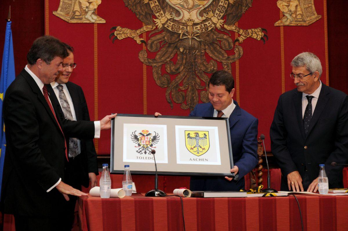 Toledo y Aquisgrán conmemoran el XXX Aniversario de su Hermanamiento como antecedente de la unidad europea