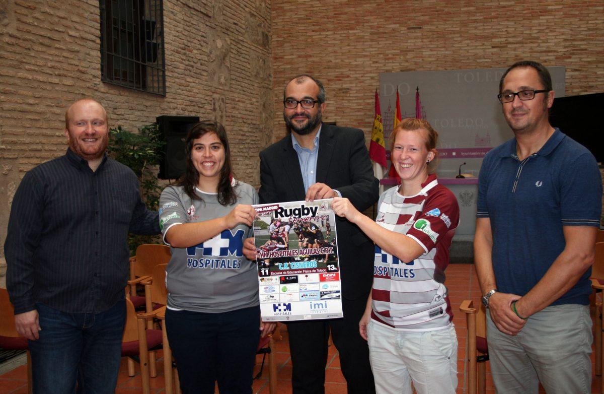 El Ayuntamiento apoya a las Águilas de Toledo, que afrontan la temporada en el campeonato de Rugby Femenino de Madrid