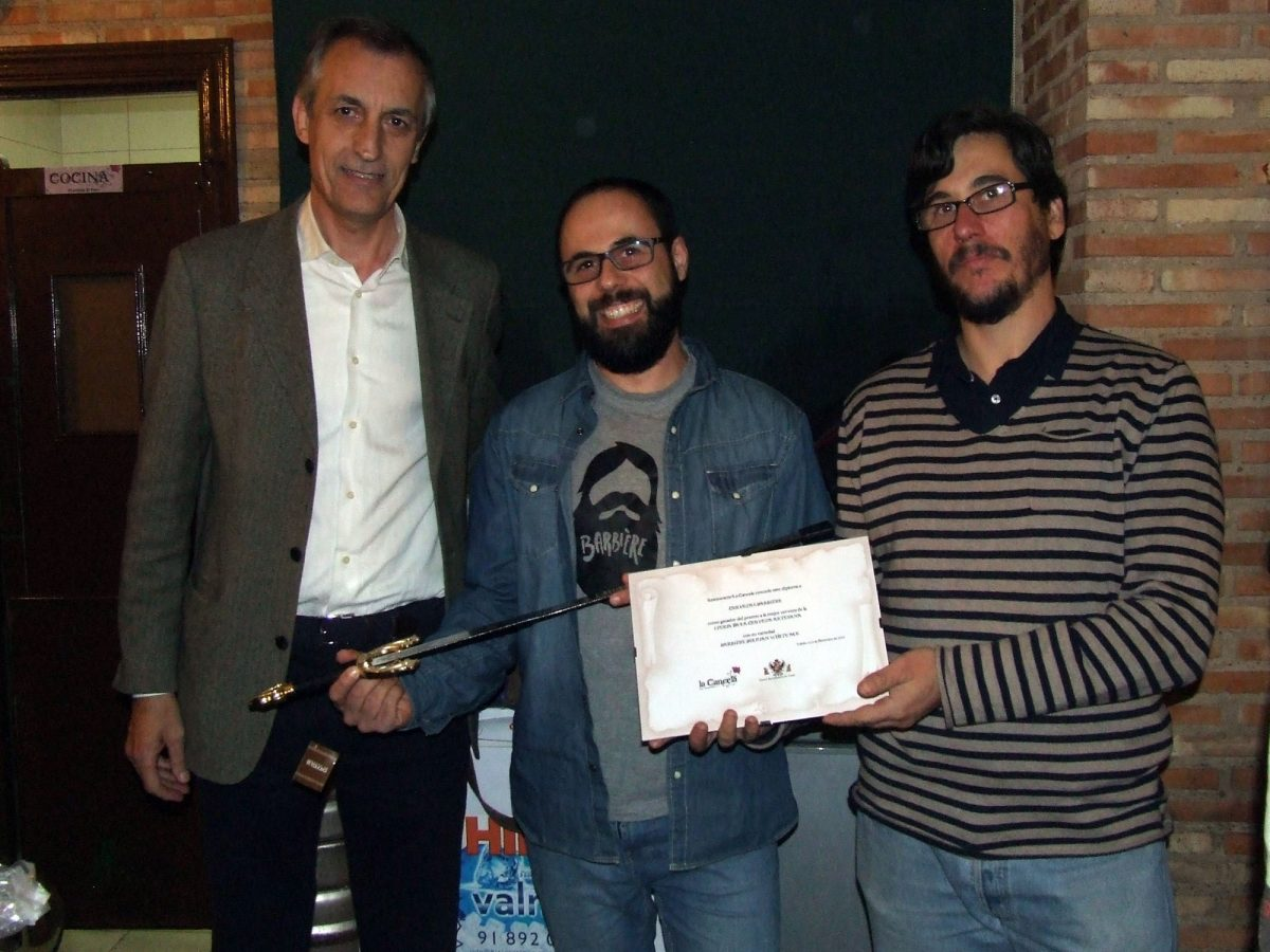 https://www.toledo.es/wp-content/uploads/2014/12/feria_cerveza-1200x900.jpg. Barbière, ganador de la I Feria de la Cerveza Artesana organizada por La Cancela con la colaboración del Ayuntamiento