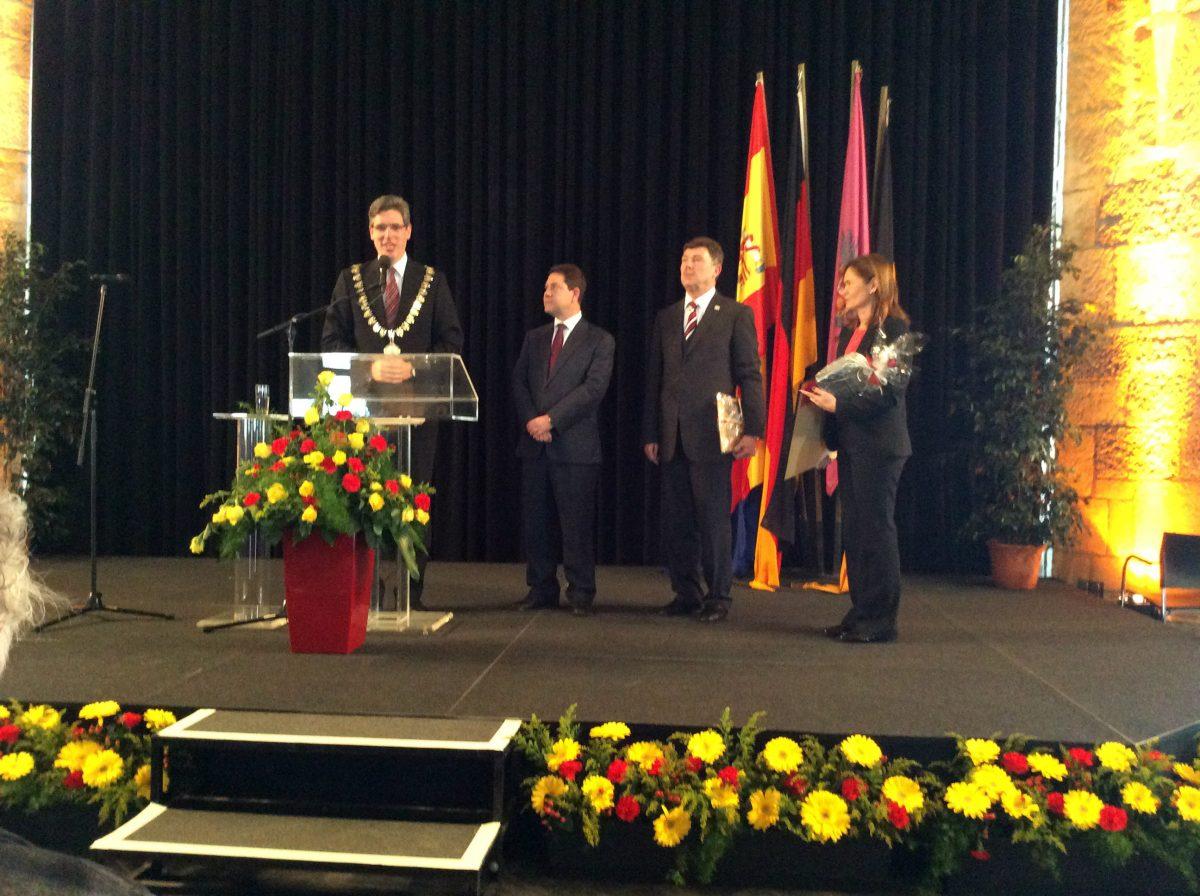 Toledo y Aquisgrán ponen en valor el XXX aniversario de su hermanamiento en un acto protocolario en la ciudad alemana