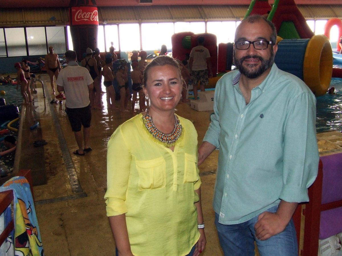 Alrededor de 500 personas participan en la XIX edición del Día del Agua que se celebra en la piscina del Salto del Caballo