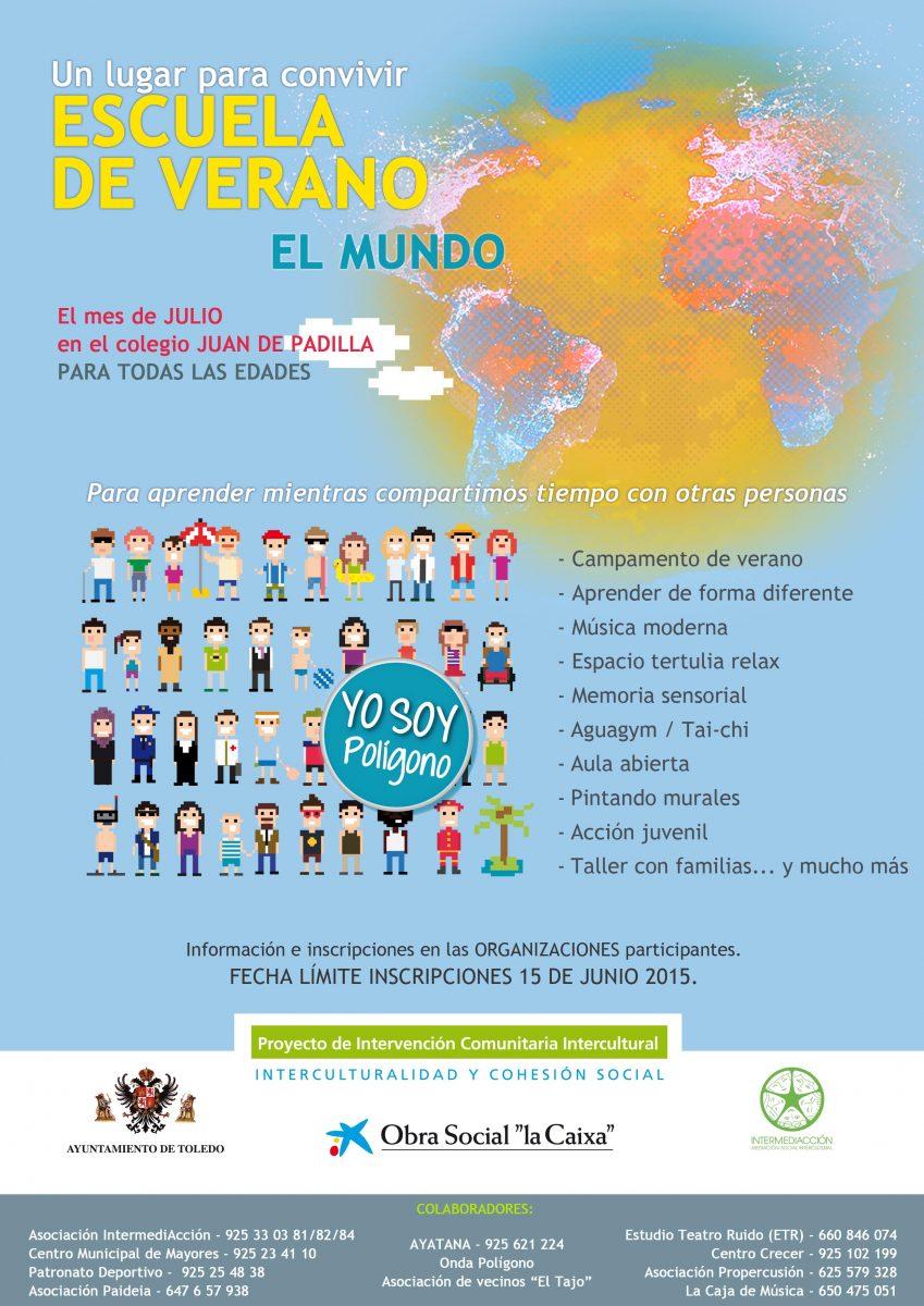 """Abierto el plazo para inscribirse en el proyecto de Intervención Comunitaria """"Escuela de Verano El Mundo"""""""