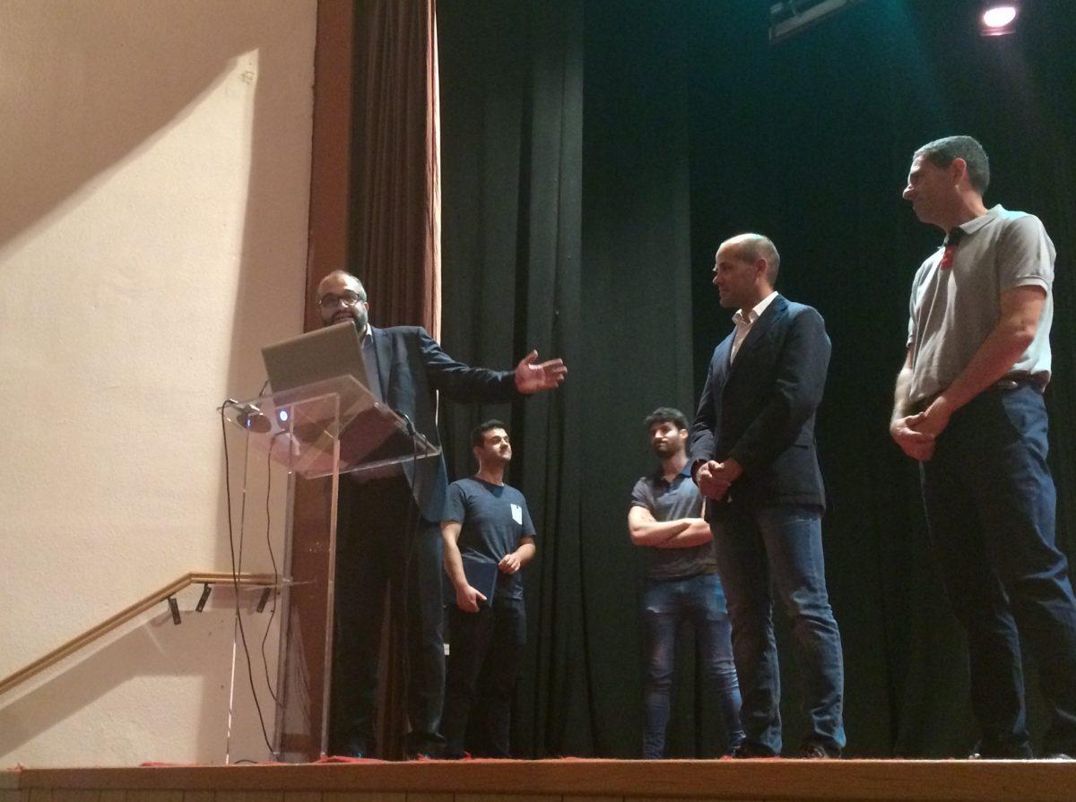 El concejal de Deportes es homenajeado por el Club Baloncesto CEI Toledo en el acto de clausura de la temporada