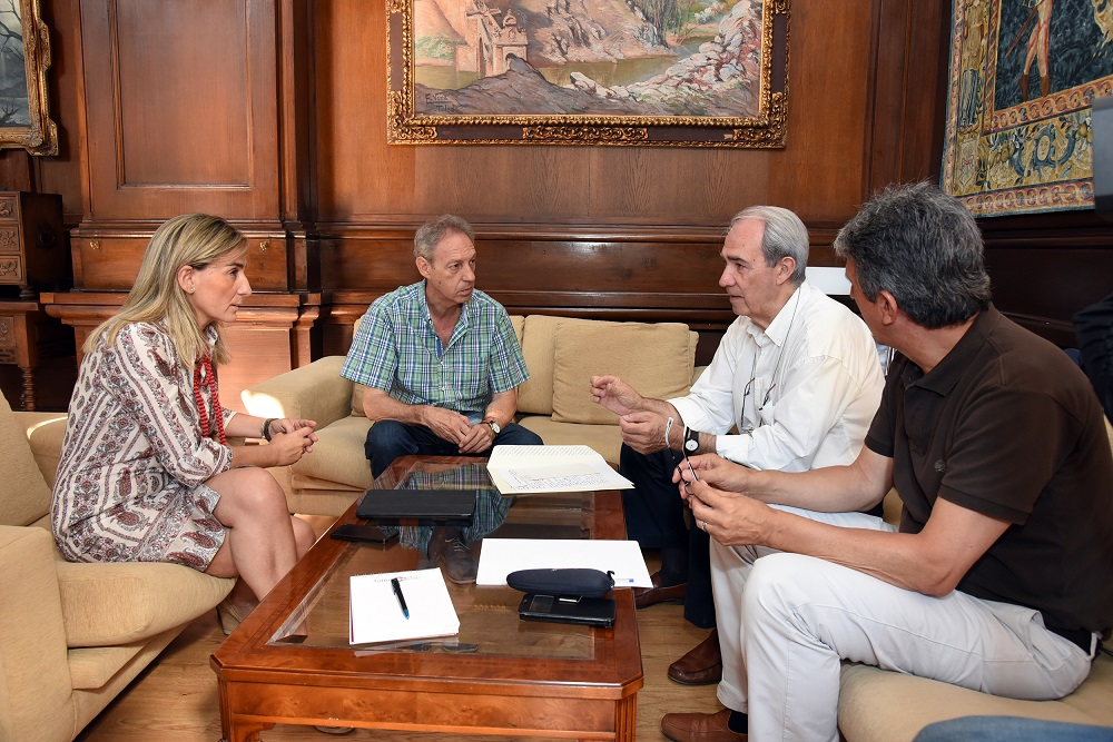 La alcaldesa se interesa por las próximas actuaciones del Consorcio de Toledo