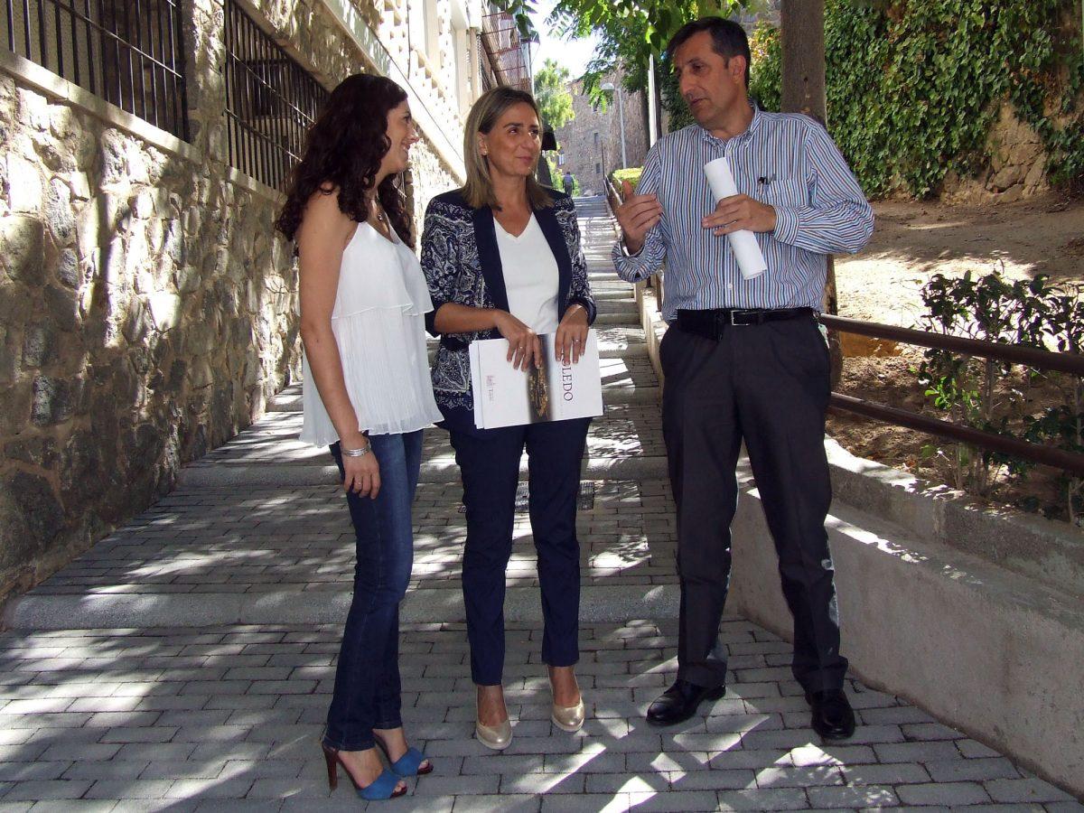 El Ayuntamiento de Toledo mejora la movilidad y la seguridad de los  peatones en las Escalerrillas de la Vega