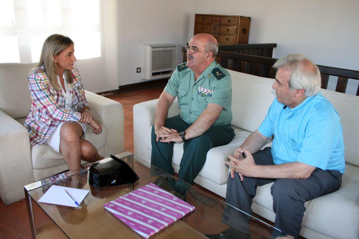 La alcaldesa de Toledo se reúne con el Jefe de Zona de la Guardia Civil en Castilla-La Mancha
