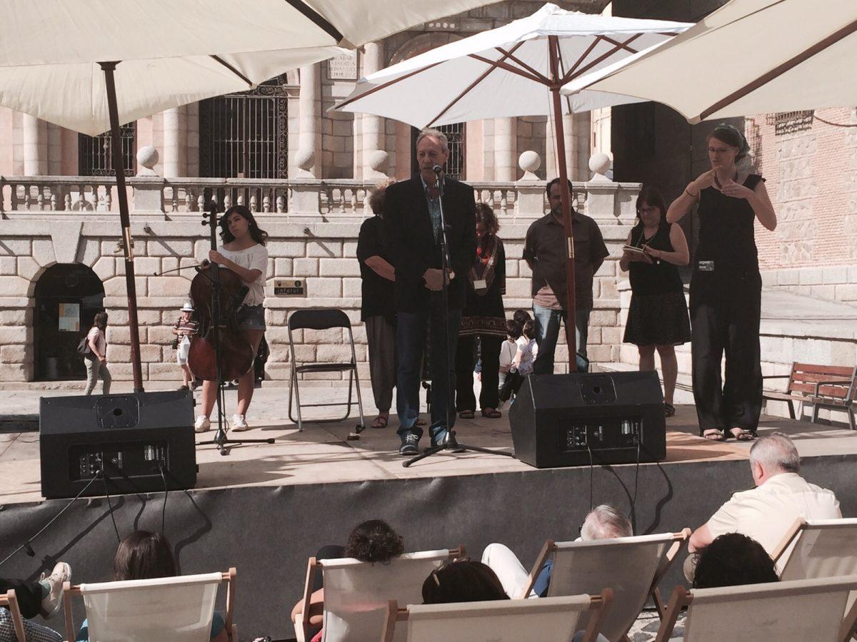 """González Cabezas anima a """"que la voz de los poetas suene fuerte en Toledo"""" con motivo del Festival Voix Vives"""