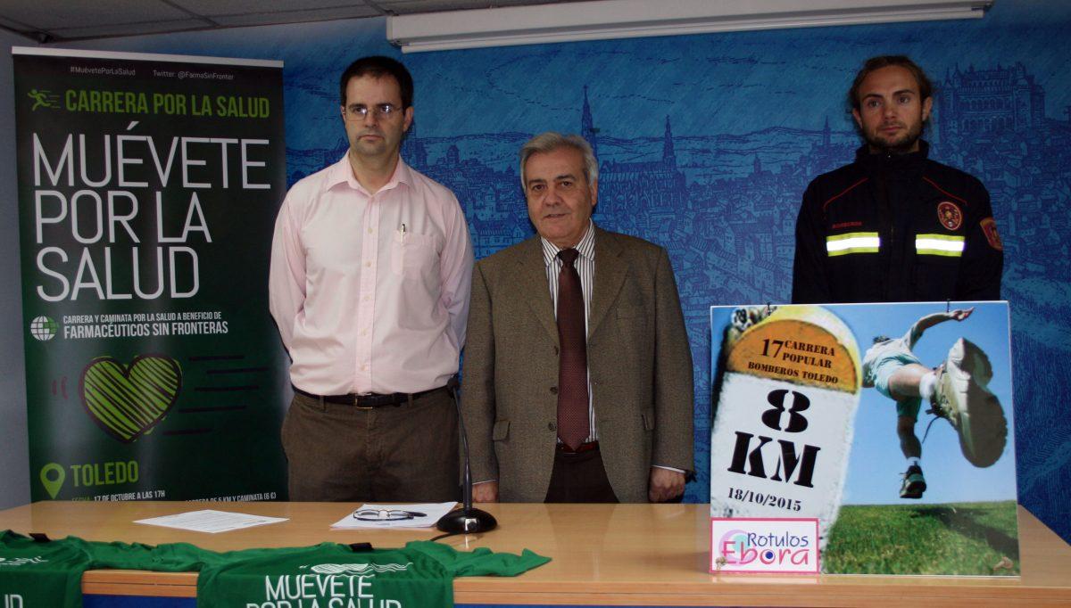 https://www.toledo.es/wp-content/uploads/2015/10/presentacion_carreras-1200x682.jpg. Este fin de semana se celebran en Toledo la XVII Carrera de los Bomberos de Toledo y la primera de Farmacéuticos Sin Fronteras
