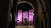 https://www.toledo.es/wp-content/uploads/2015/10/puerta_alcantara_iluminacion.jpg. El Ayuntamiento manda un mensaje de esperanza a las personas con cáncer de mama e ilumina en su honor varios monumentos
