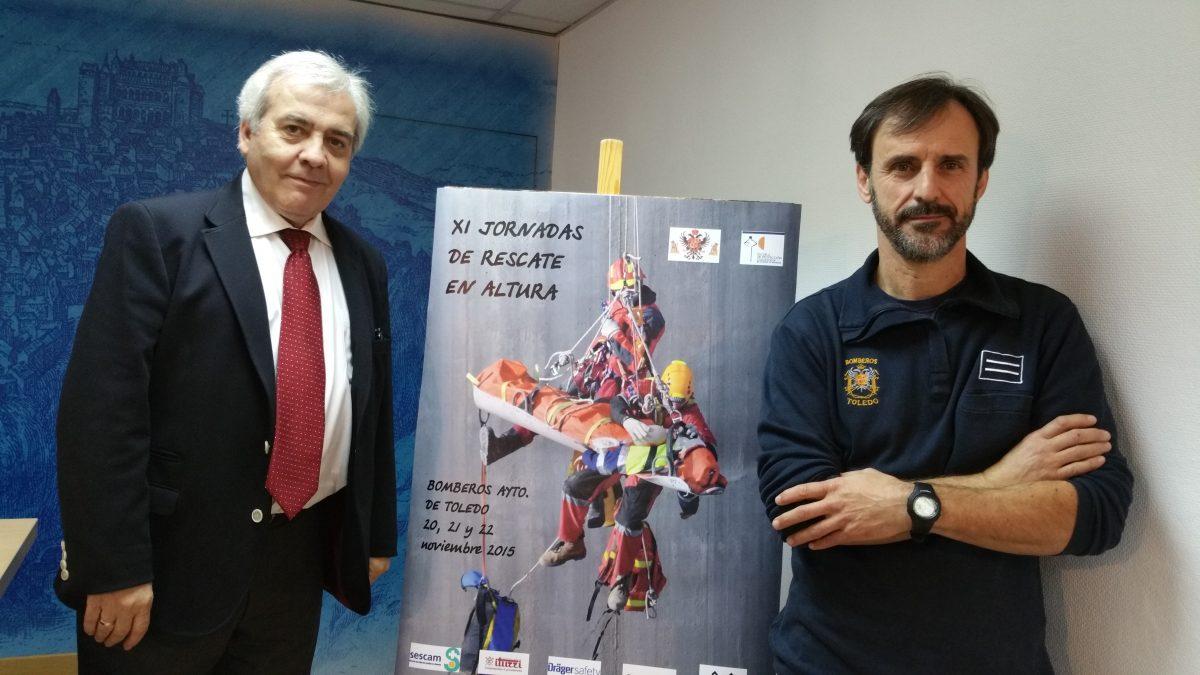 Bomberos de la ciudad hermanada de Agen y de otras provincias se dan cita en las XI Jornadas de Rescate en Altura