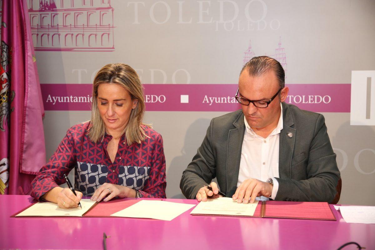 Tolón suscribe la cesión de uso de un espacio de la Casa de la Cultura a Down Toledo y reivindica el valor del tejido asociativo