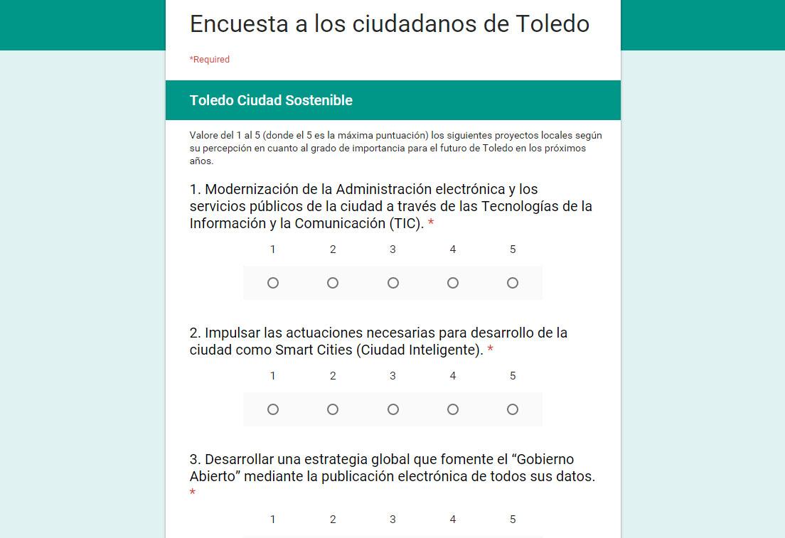 """http://www.toledo.es/wp-content/uploads/2015/12/encuesta.jpg. El Gobierno local anima a los toledanos a actualizar las prioridades de la ciudad en el Plan Estratégico """"Toledo 2020"""""""