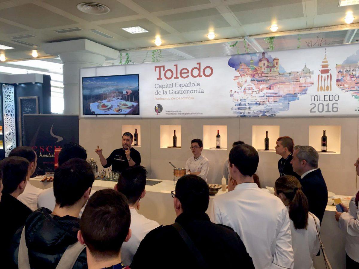 Los cocineros toledanos con Estrella Michelín están desde hoy en el stand de Toledo en el congreso culinario Madrid Fusión