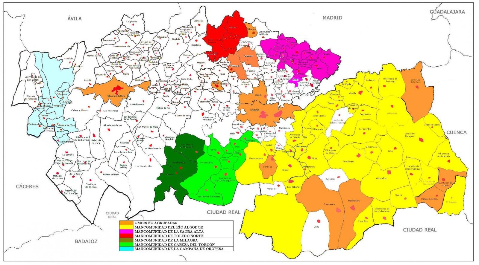 Mapa Provincia De Toledo Turismo.Directorio De Consumo Ayuntamiento De Toledo