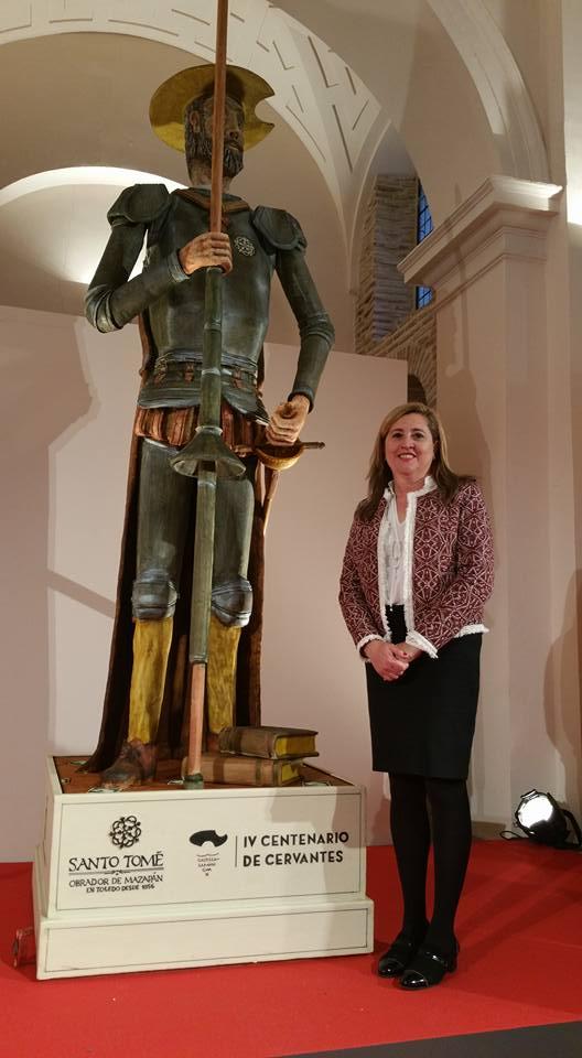 """Toledo aspira a """"elevar el mazapán a la altura del récord Guinness"""" con una estatua del Quijote de 3,60 metros"""