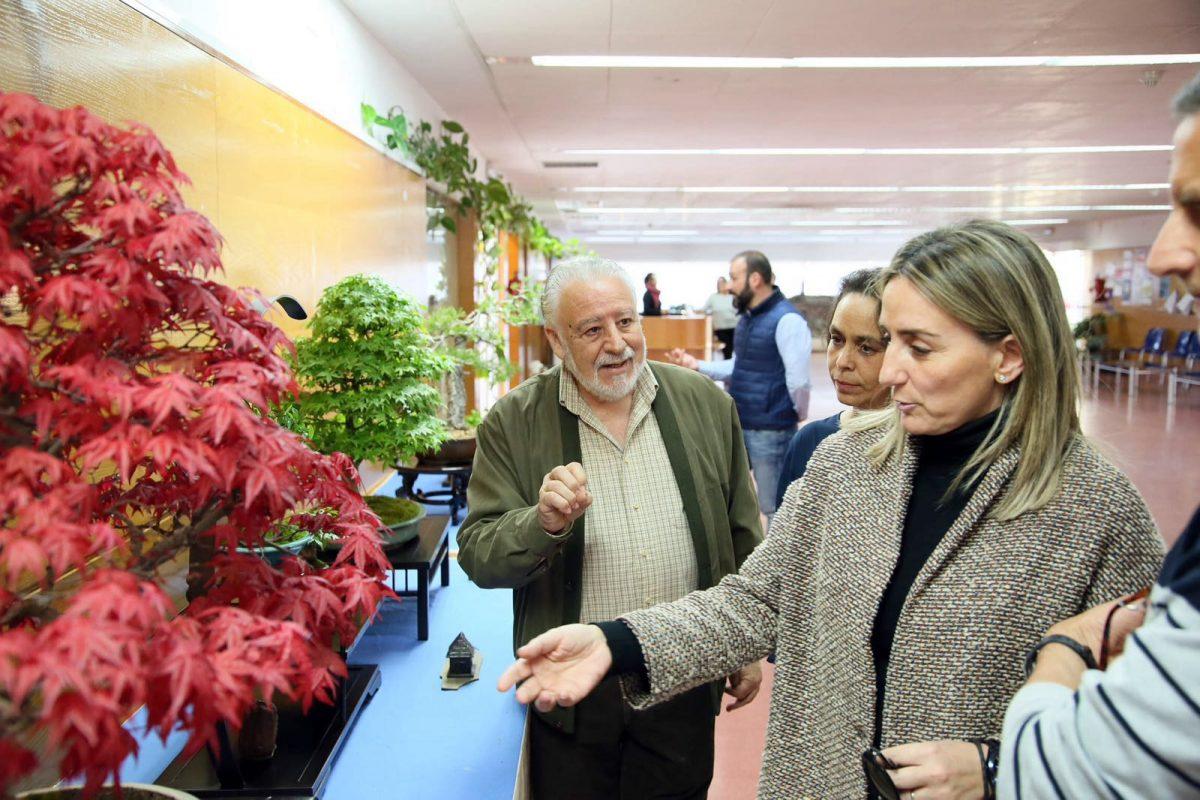 Tolón inaugura la XXIII exposición del Club Bonsai Toledo que permanecerá abierta hasta el domingo en el Polígono