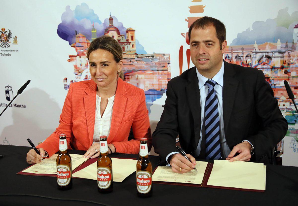 El Ayuntamiento y Mahou San Miguel firman un acuerdo para impulsar el patrimonio gastronómico de Toledo