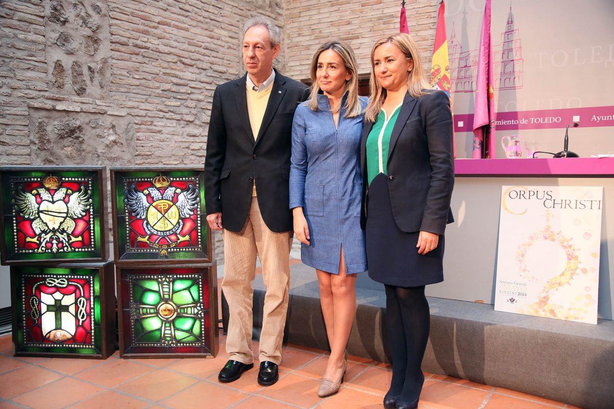 """http://www.toledo.es/wp-content/uploads/2016/05/04_rueda_prensa_corpus-1200x800.jpg. La alcaldesa anuncia un Corpus """"mejor, para todos y que engrandezca aún más a Toledo"""""""