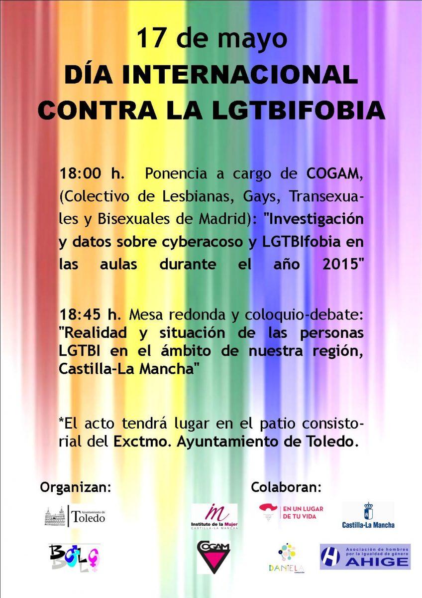 El Ayuntamiento conmemorará el Día Internacional contra la LGTBIFOBIA con una ponencia y coloquio el próximo 17 de mayo
