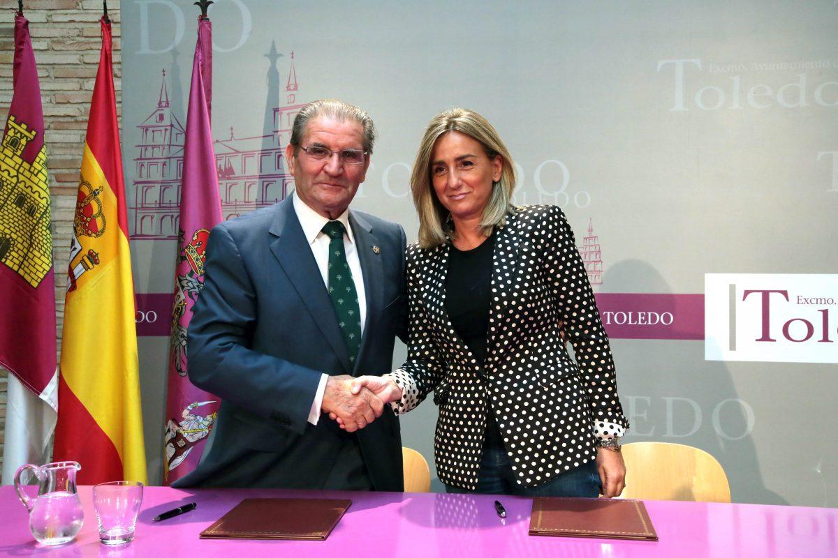 El Ayuntamiento suma la colaboración de Caja Rural Castilla-La Mancha para la celebración del espectáculo Luz Toledo 2016