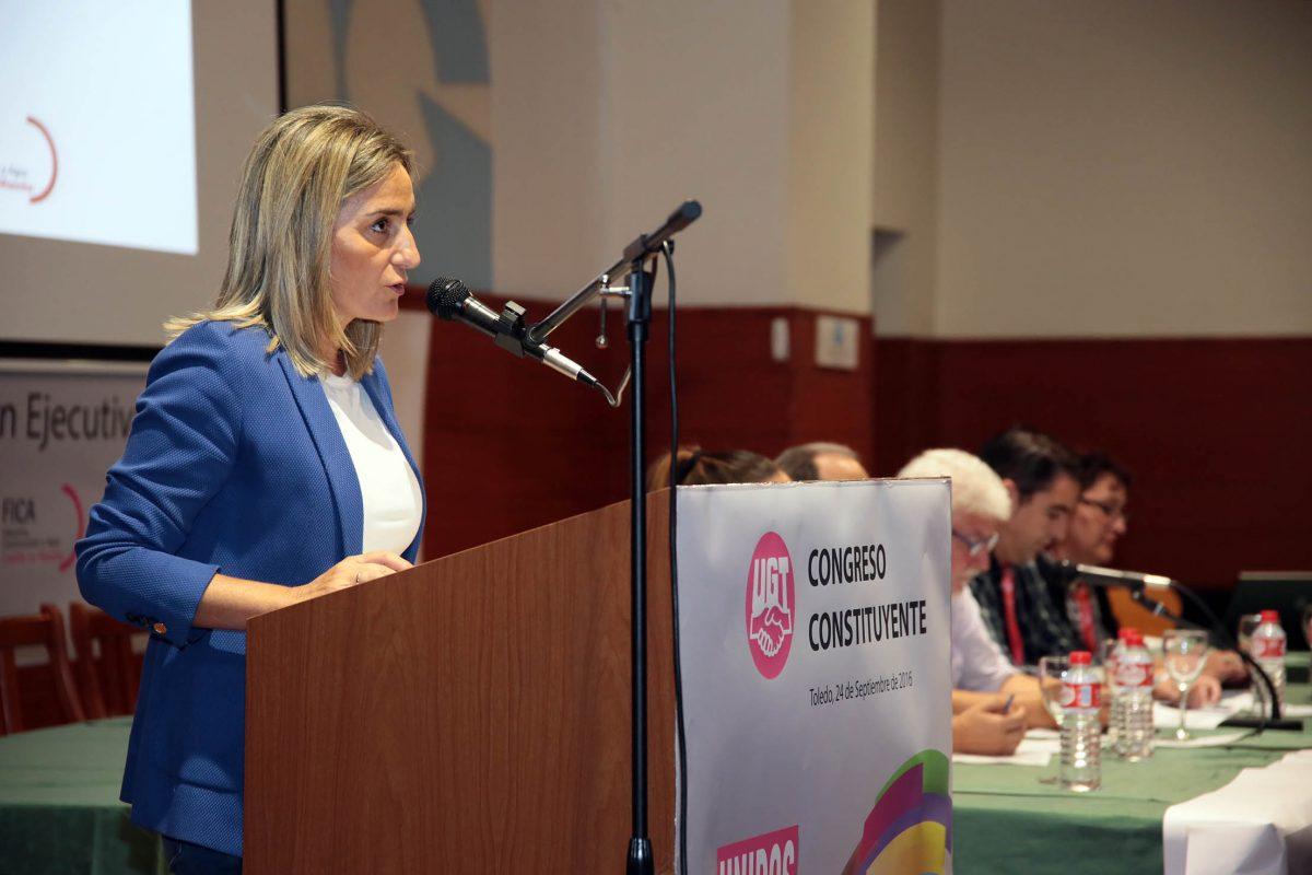 Milagros Tolón destaca, en el Congreso Constituyente de UGT- FICA CLM, el papel de los sindicatos en la actual coyuntura