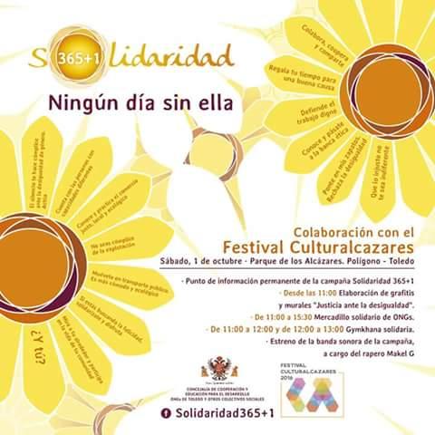 El Ayuntamiento celebra este sábado en el Polígono el Festival Culturalcázares 2016 y el III Encuentro de Solidaridad