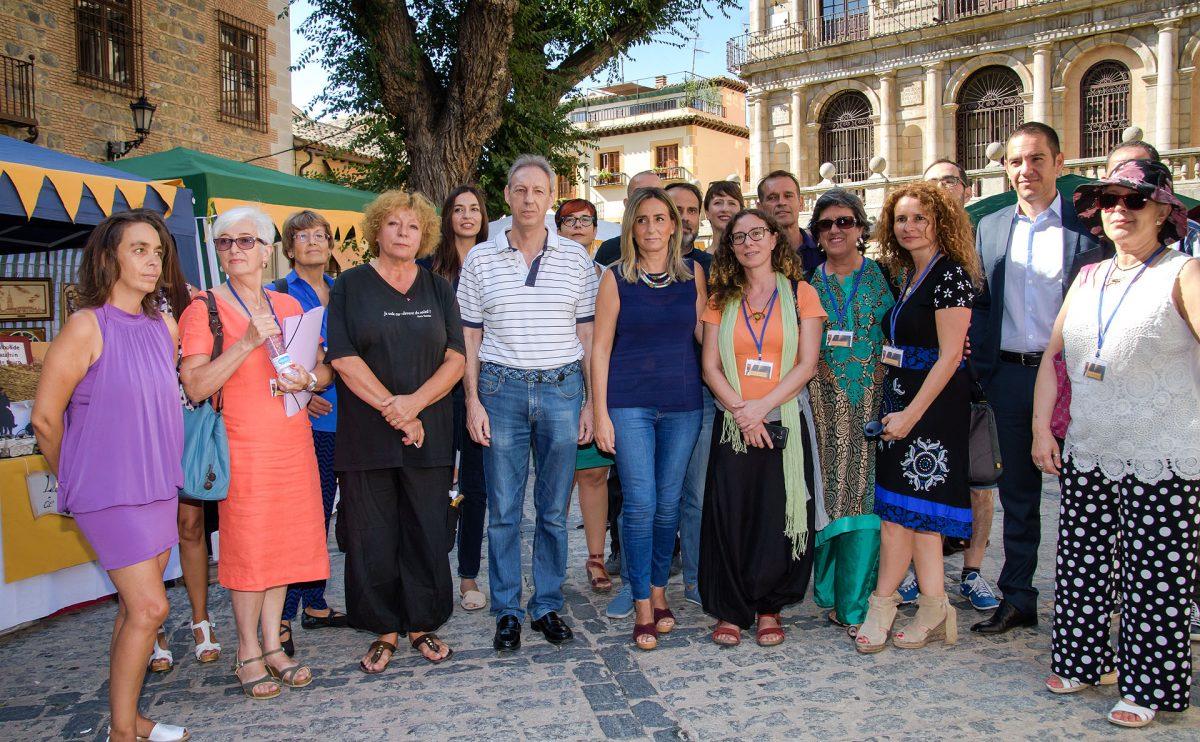 """Toledo abre su """"Septiembre Cultural"""" con la inauguración del Festival de Poesía Voix Vives por parte de la alcaldesa"""