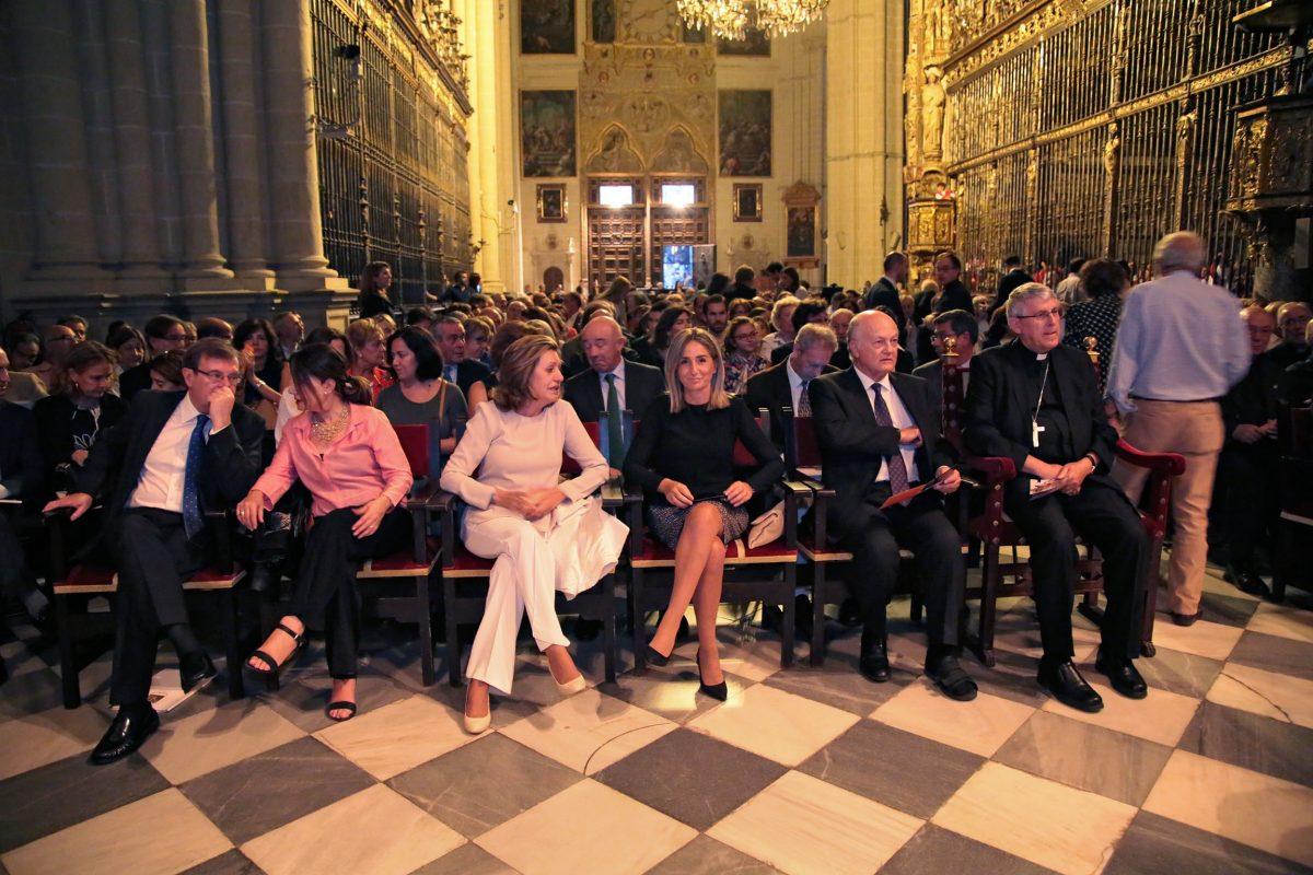 Milagros Tolón asiste al primer concierto de Los Niños Cantores de Viena en la ciudad de Toledo