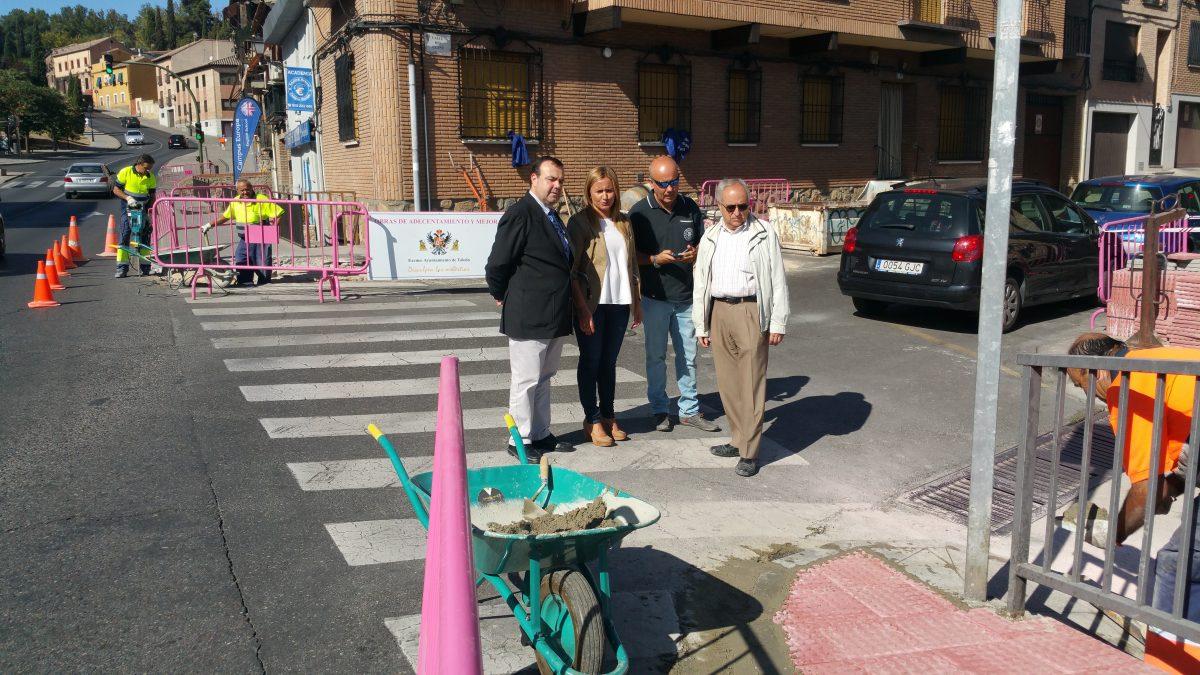El Ayuntamiento acomete obras de mejora de la accesibilidad en el entorno de la estación de autobuses