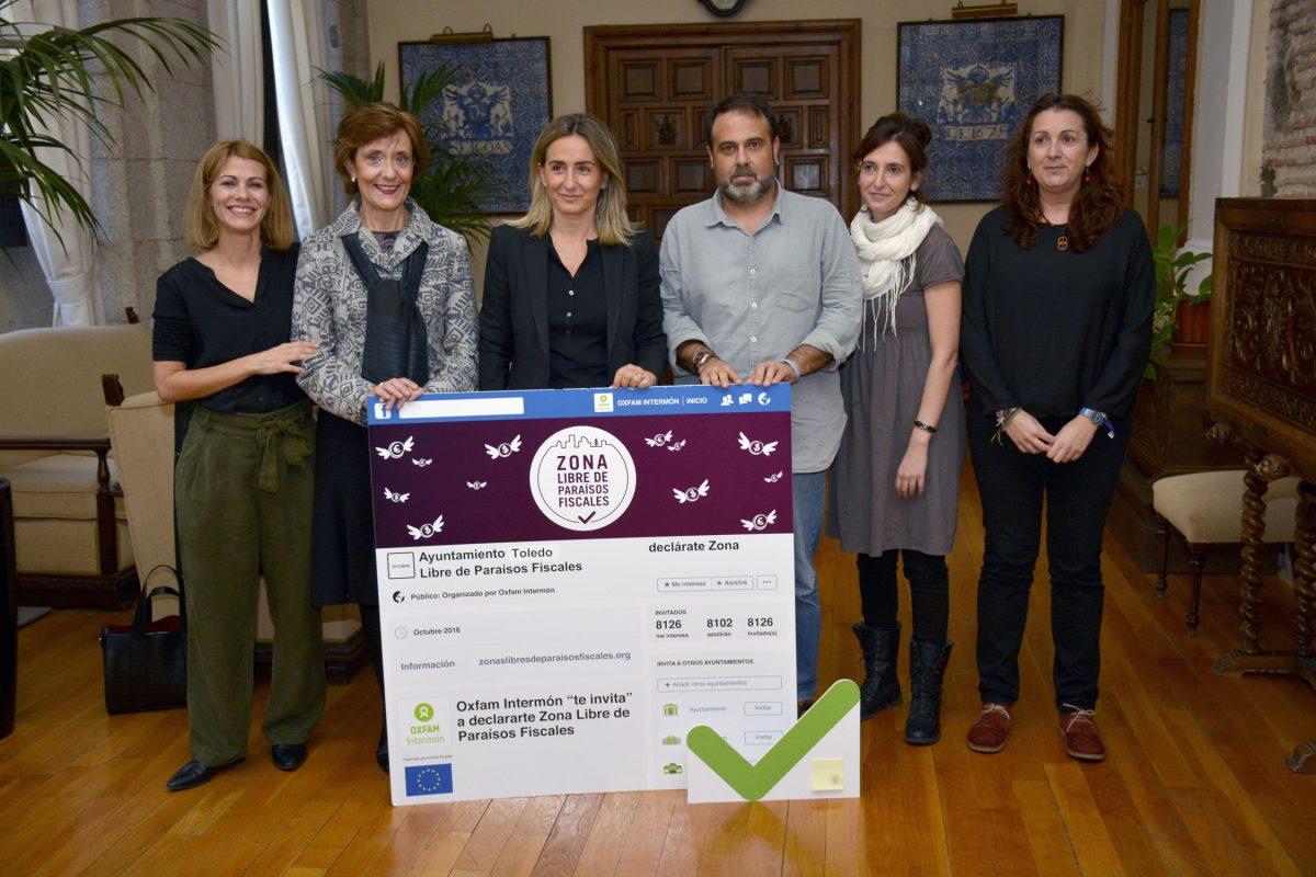 El Ayuntamiento recoge la invitación de Oxfam Intermón para que Toledo sea Zona Libre de Paraísos Fiscales