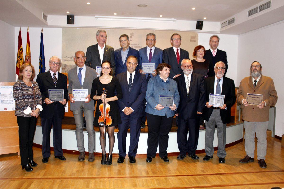 La Biblioteca de Castilla-La Mancha celebra su XVIII Aniversario con el  reconocimiento a sus Socios de Honor