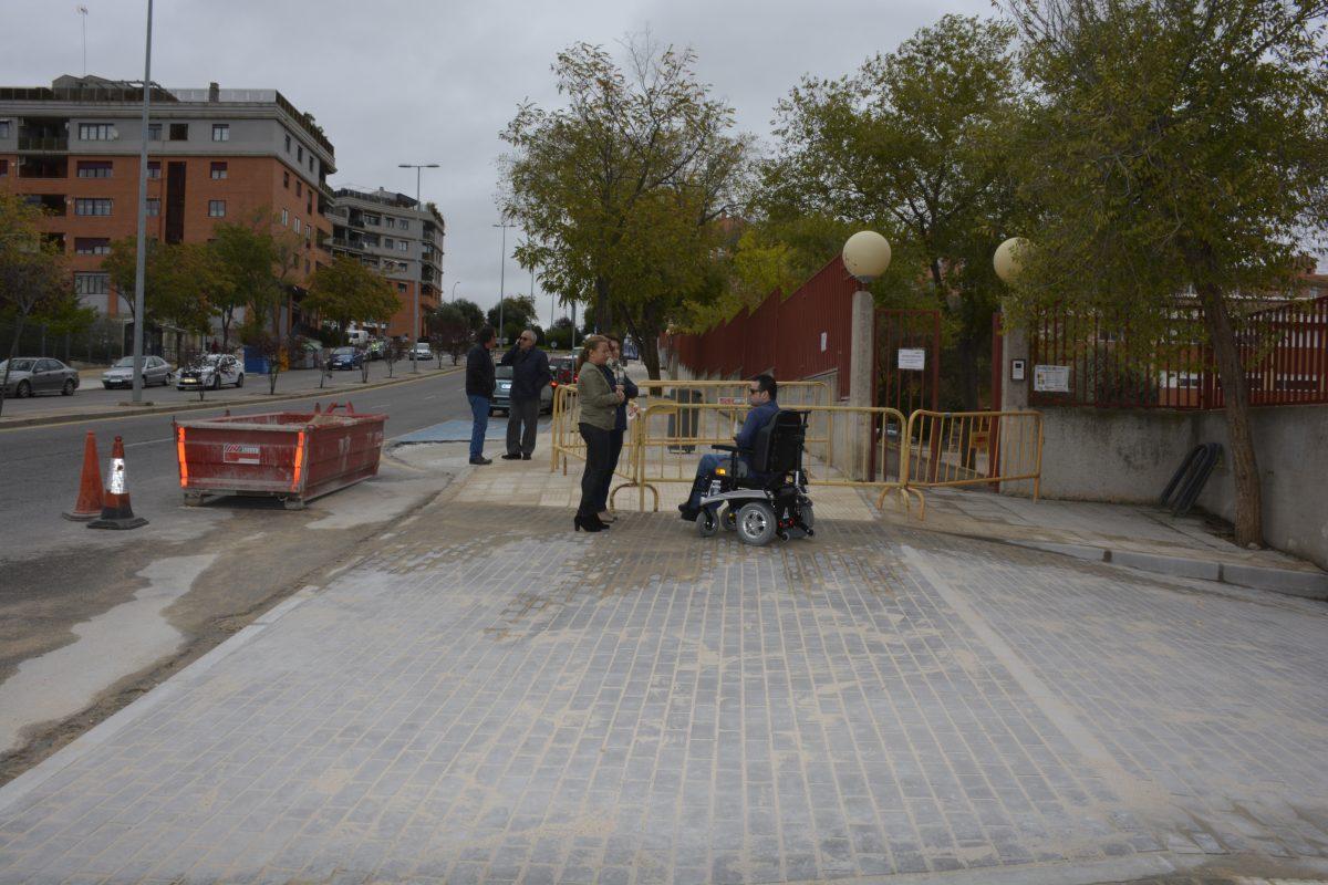 """El Ayuntamiento acomete """"mejoras sustanciales"""" en la accesibilidad del entorno del Colegio Público Ciudad de Nara"""