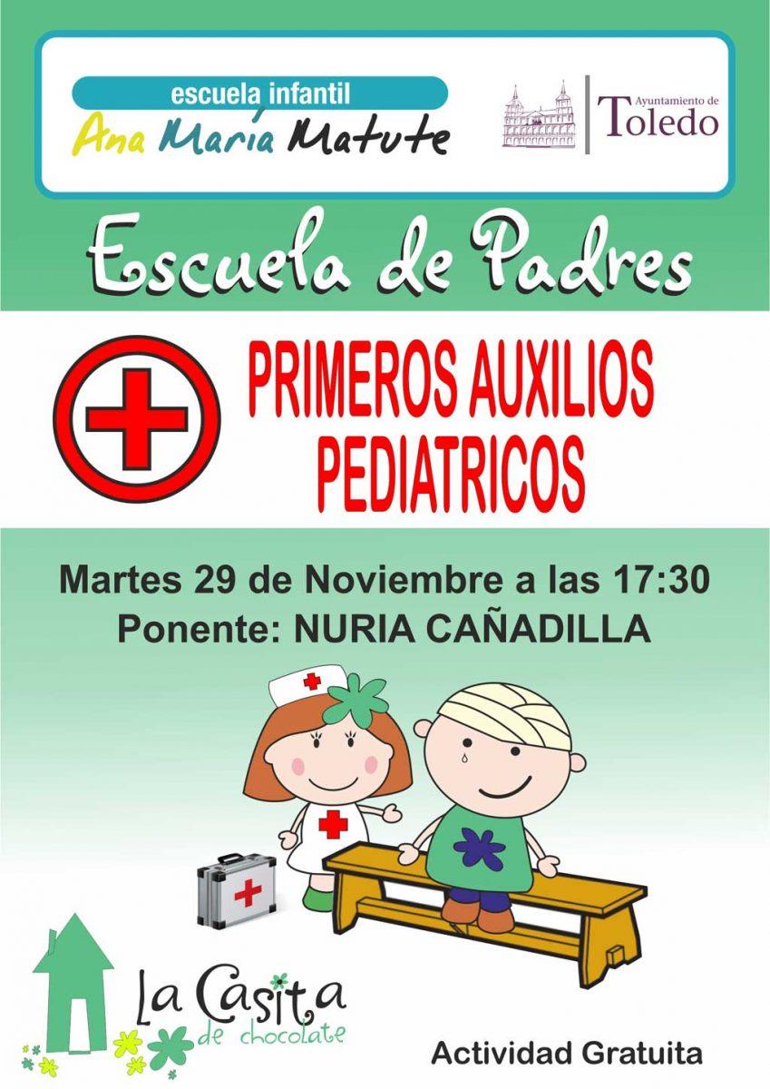 """Escuela de padres.  Ponencias """"Primeros Auxilios Pediatricos""""."""