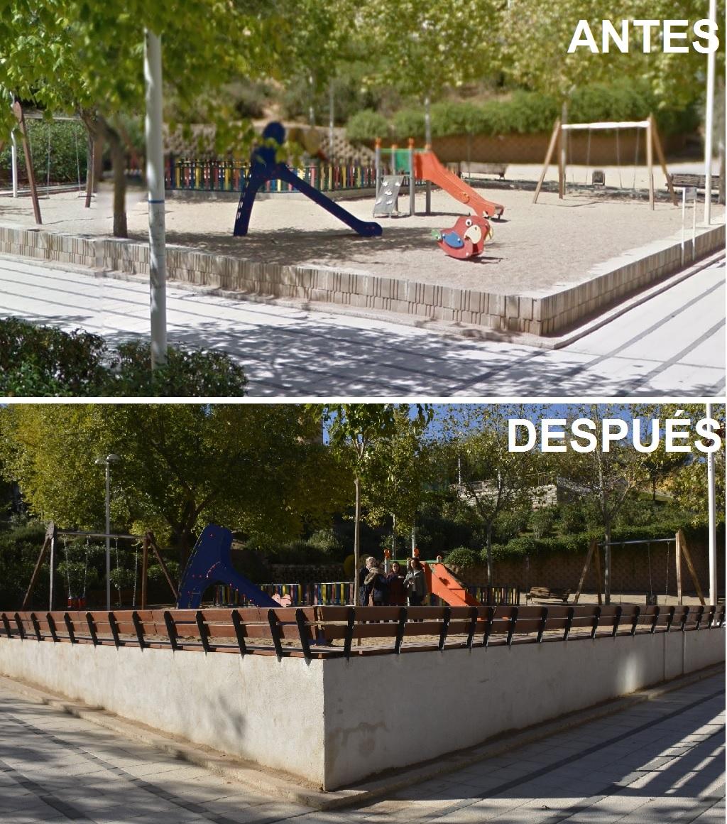 El Ayuntamiento incorpora una práctica y funcional barrera al parque de Viguetas que mejorará su uso, estética y seguridad