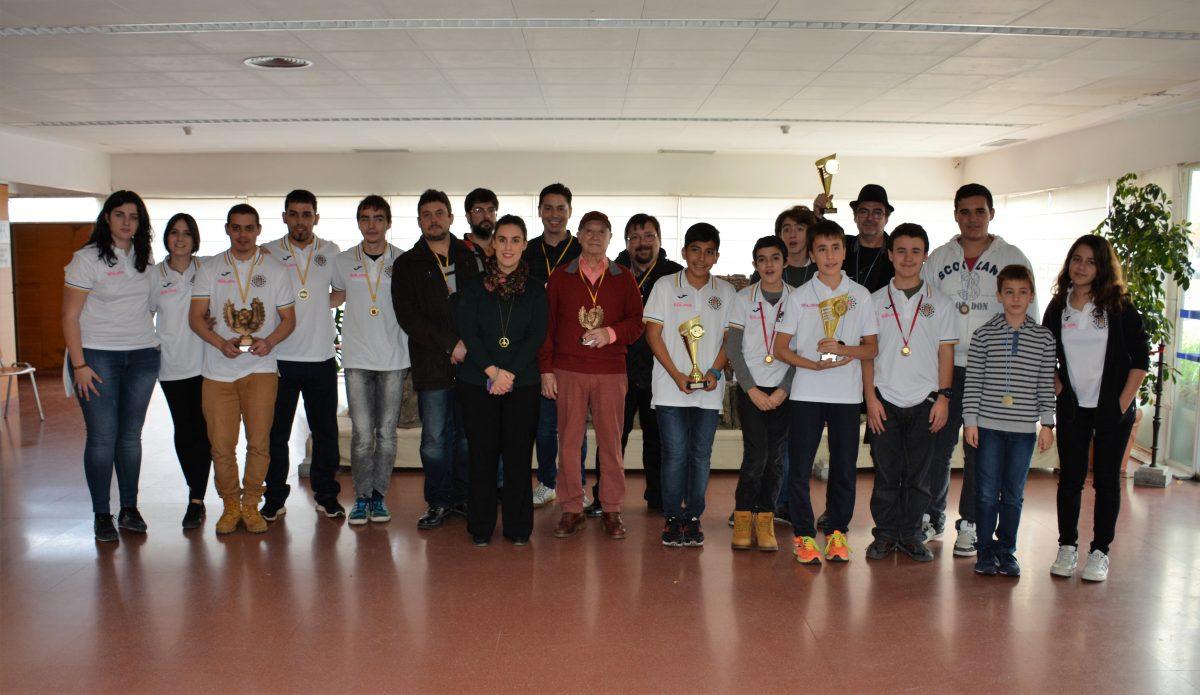 El Ayuntamiento respalda el Campeonato provincial de Ajedrez por equipos disputado en el Centro Cívico del Polígono