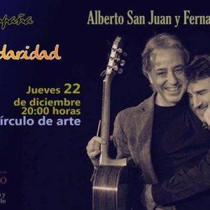 lberto San Juan y Fernando Egozcue ponen el broche final a la campaña Solidaridad 365+1 este jueves en el Círculo de Arte