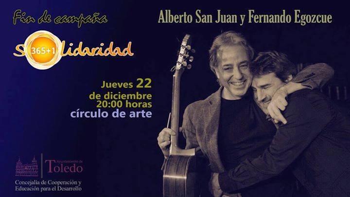 Alberto San Juan y Fernando Egozcue ponen el broche final a la campaña Solidaridad 365+1 este jueves en el Círculo de Arte