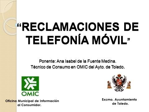 La OMIC del Ayuntamiento de Toledo imparte dos ponencias sobre reclamaciones de telefonía móvil en la Academia de Infantería