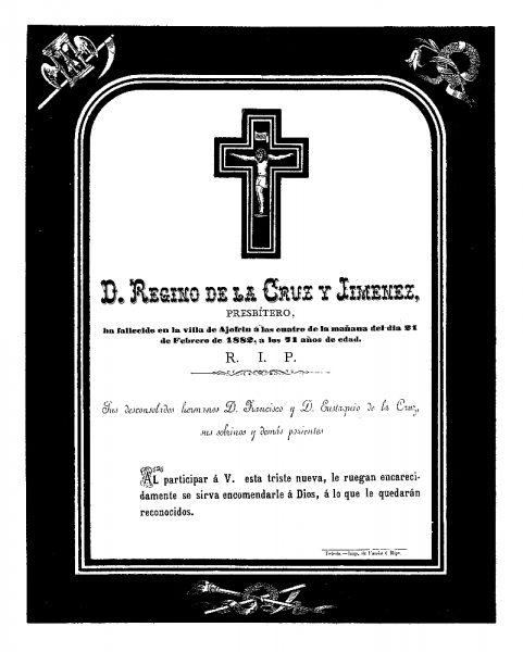 10 21-02-1882 Regino de la Cruz y Jiménez