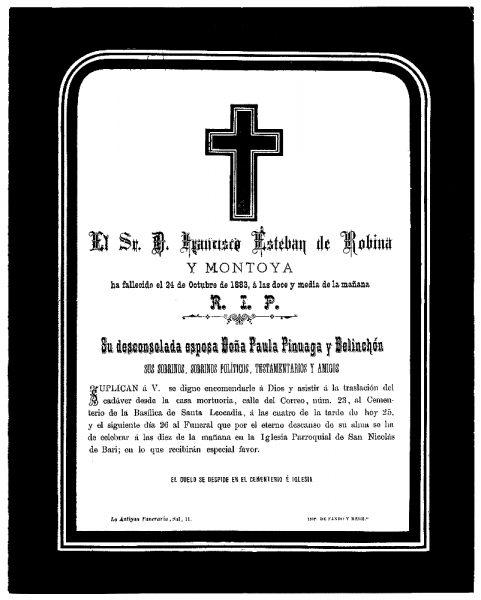 11 24-10-1883 Francisco Esteban de Robina