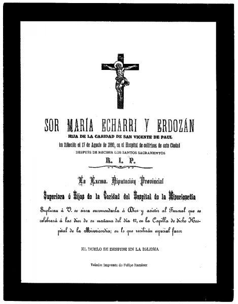 14 17-08-1890 María Echarri y Erdozán