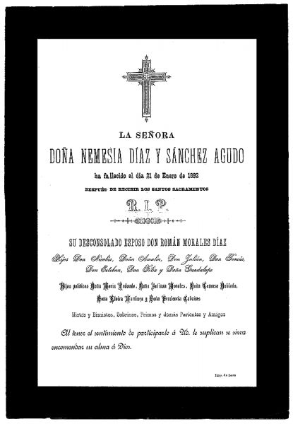 15 21-01-1892 Nemesia Díaz y Sánchez Agudo
