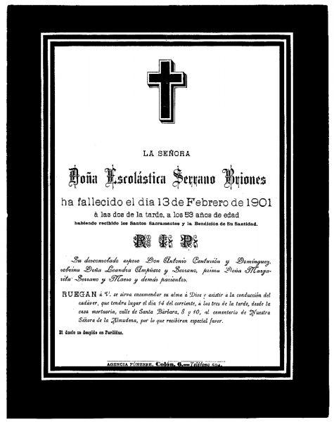 19 13-02-1901 Escolástica Serrano Briones