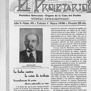 1930_El Proletario de 1 de mayo de 1930