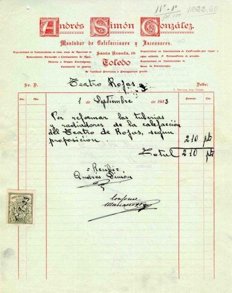 1933 Calefacciones de Andrés Simón González