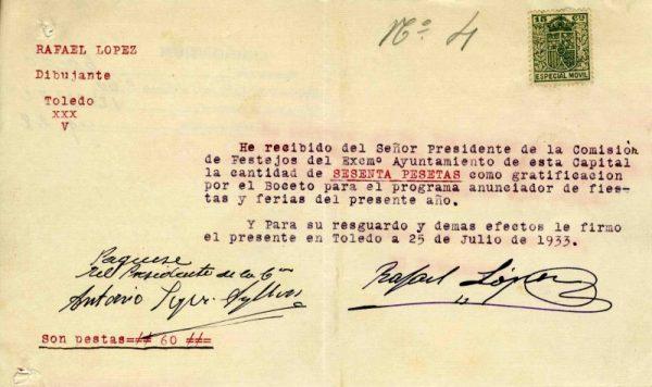 1933 Dibujante Rafael López