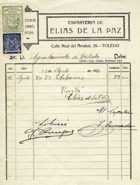 1933 Espartería de Elías de la Paz