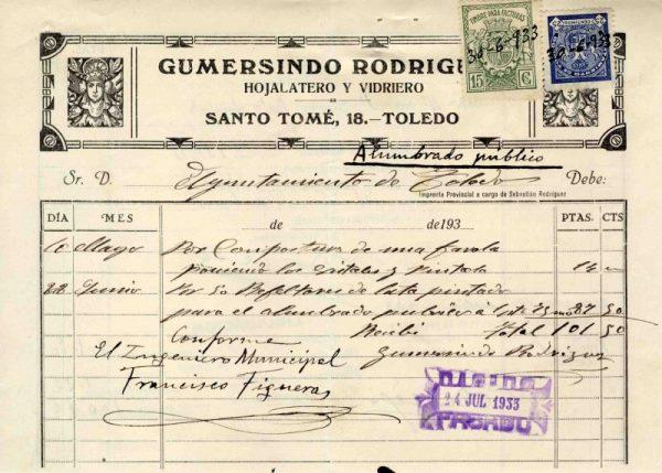1933 Hojalatero y vidriero Gumersindo Rodríguez