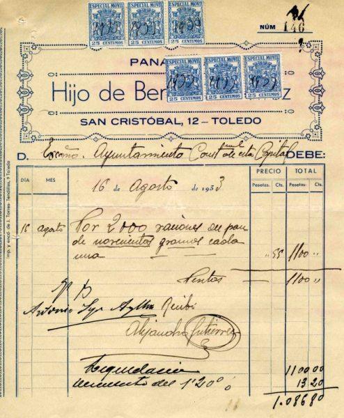 1933 Panadería del Hijo de Benito Gutiérrez