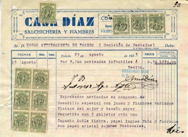 1933 Salchichería y fiambres Casa Díaz